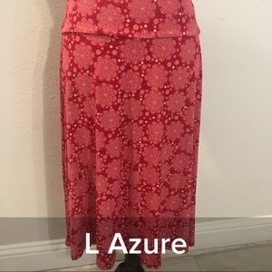 Lularoe large azure skirt